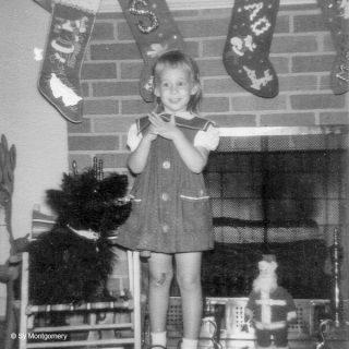 Die vierjährige Sy Montgomery mit Scotchterrier Molly
